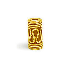 Bali Vermeil-24k Gold Plated - Vermeil Barrel and Pipe Beads
