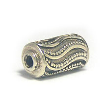 Bali Silver Beads - Barrel and Pipe Beads