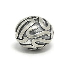 Bali Beads | Sterling Silver Silver Beads - Round Beads, Silver Beads B5002