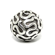 Bali Beads | Sterling Silver Silver Beads - Round Beads, Silver Beads B5003