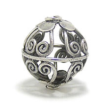 Bali Beads | Sterling Silver Silver Beads - Round Beads, Silver Beads B5013