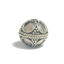 Bali Beads | Sterling Silver Silver Beads - Round Beads, Sterling Silver Beads - B5147