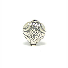 Bali Beads | Sterling Silver Silver Beads - Stamp Beads, Silver Beads B8048