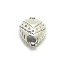 Bali Beads | Sterling Silver Silver Beads - Stamp Beads, Silver Beads B8052