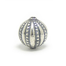 Bali Beads | Sterling Silver Silver Beads - Stamp Beads, Silver Beads B8072