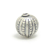 Bali Beads | Sterling Silver Silver Beads - Stamp Beads, Silver Beads B8073
