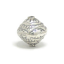 Bali Beads | Sterling Silver Silver Beads - Stamp Beads, Silver Beads B8097