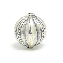 Bali Beads | Sterling Silver Silver Beads - Stamp Beads, Silver Beads B8100