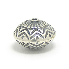 Bali Beads | Sterling Silver Silver Beads - Stamp Beads, Silver Beads B8101