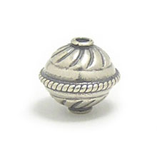 Bali Beads | Sterling Silver Silver Beads - Stamp Beads, Silver Beads B8103