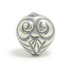 Bali Beads | Sterling Silver Silver Beads - Stamp Beads, Silver Beads B8109