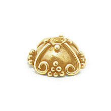 Bali Beads | Sterling Silver Vermeil-24k Gold Plated - Vermeil Ornate Caps, 24K Gold Vermeil on Sterling Silver C3004V