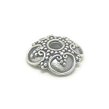 Bali Beads | Sterling Silver Silver Caps - Ornate Caps, Silver Beads C3005