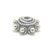Bali Beads | Sterling Silver Silver Caps - Ornate Caps, Silver Beads C3006