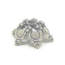 Bali Beads | Sterling Silver Silver Caps - Ornate Caps, Silver Beads C3009
