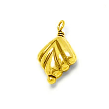 Bali Beads | Sterling Silver Vermeil-24k Gold Plated - Findings, Vermeil Charms and Dangles