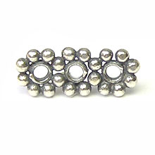 Bali Beads | Sterling Silver Silver Spacers - Flat Spacers, Silver Beads S1025