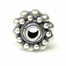 Bali Beads | Sterling Silver Silver Spacers - Granular Spacers, Silver Beads S2001