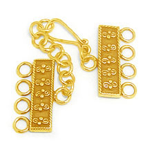 Bali Vermeil-24k Gold Plated - Vermeil Toggles and Clasps